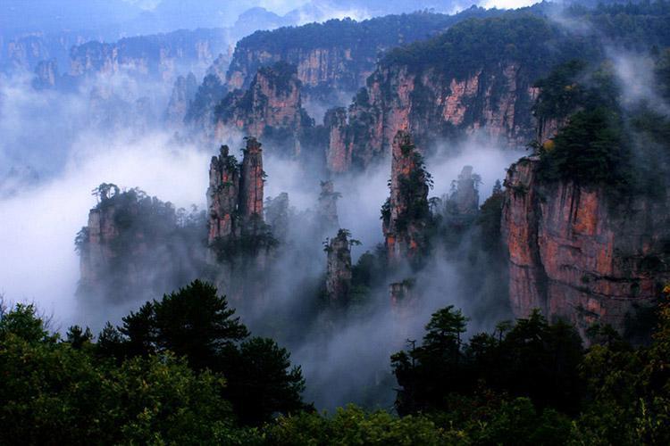 کوهستان تیان مِن چین، سفر به سرزمین آواتارها