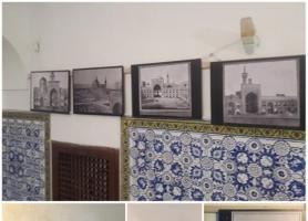 نمایشگاه عکس های قاجاری حرم رضوی در موزه گرمابه پهنه سمنان