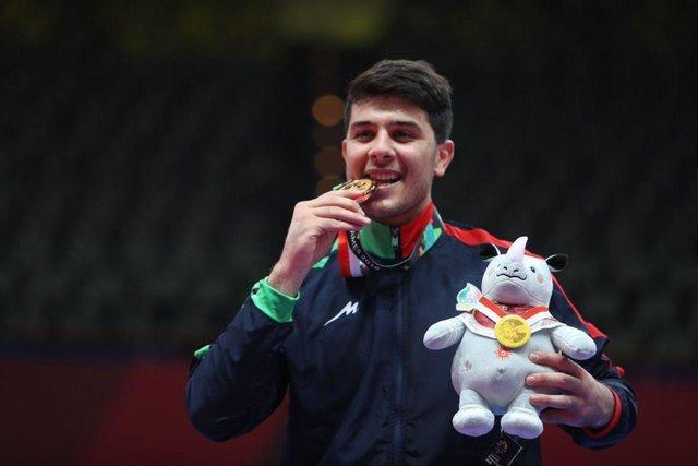 سعید رجبی قهرمان بازی های آسیایی شد، تکواندو به اولین طلا رسید
