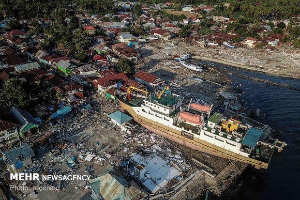 تلفات جدید قربانیان سونامی اندونزی، 168 کشته و 745 زخمی