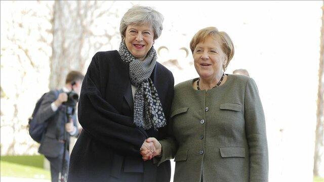 دیدار مرکل و می در برلین