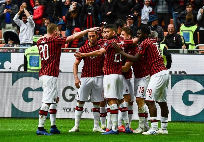 میلان با پیروزی آسان در کورس سهمیه لیگ قهرمانان باقی ماند