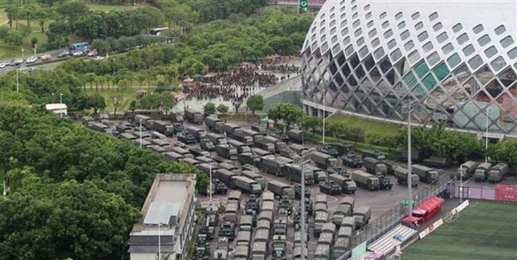 رزمایش پلیس چین نزدیک مرز هنگ کنگ