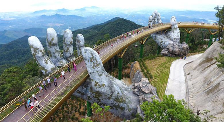گالری عکس: پل زیبایی در ویتنام که شبیه افسانه های اربات حلقه ها است