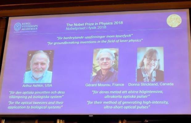 یک زن کانادایی برنده نوبل فیزیک، تحقیق روی نور و لیزر