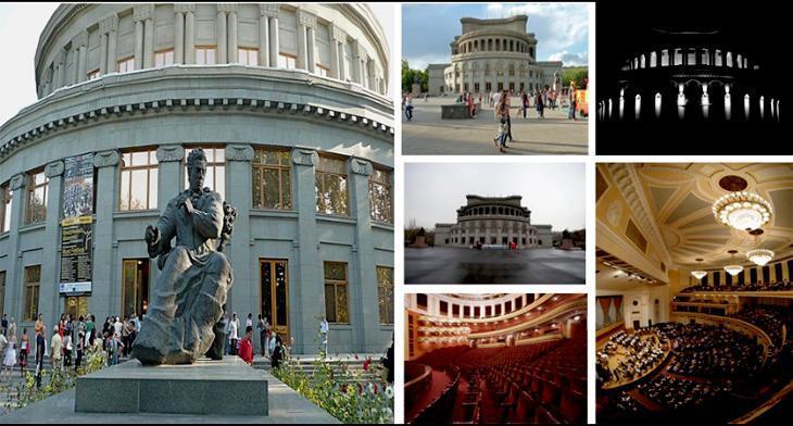 ساختمان اپرا در ایروان ارمنستان