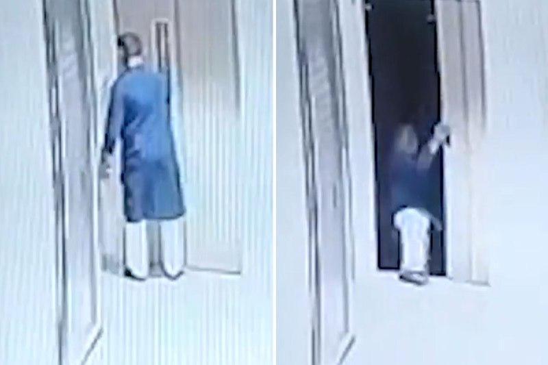 اشتباه مرگبار مرد میانسال هنگام سوار شدن به آسانسور!
