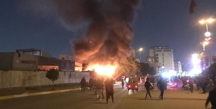 آتش زدن خیمه های مواکب حسینی در کربلای معلی