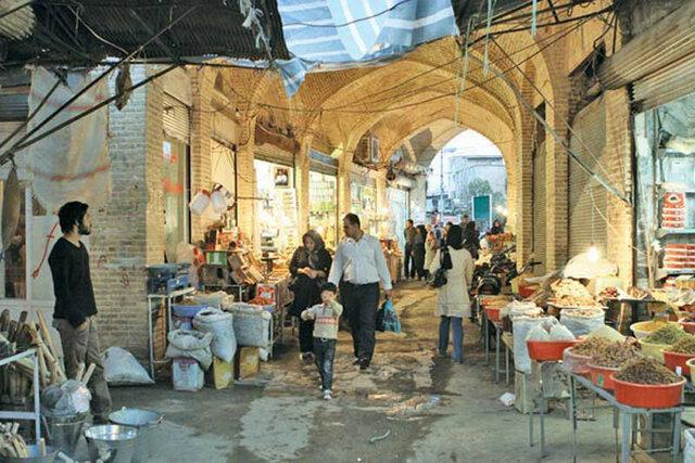 معابری که در شان بازار سنتی کرمانشاه نیست