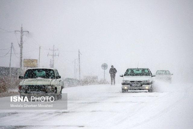 تردد با زنجیر چزخ در محورهای استان اردبیل، ترافیک نیمه سنگین در محدوده ورودی پایتخت