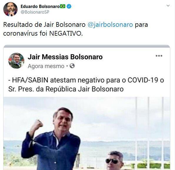رییس جمهوری برزیل ابتلا به کرونا را تکذیب کرد