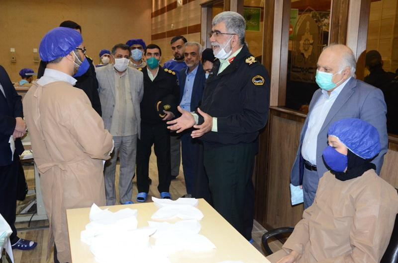 حمایت خیرین شیرازی از جهادگران فعال در کارگاه های تولید ماسک