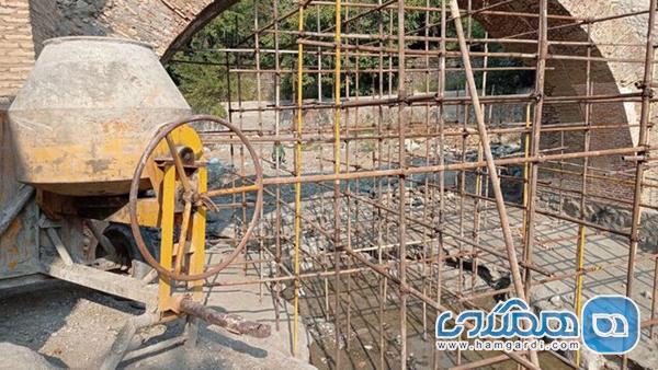 داربست های پل تاریخی کن چشم انتظار بازسازی گرانند