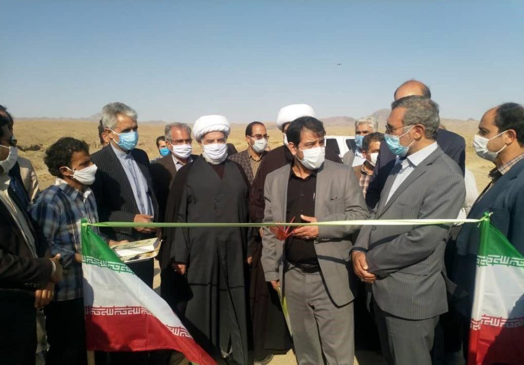 خبرنگاران بند خاکی در حوزه آبخیز قنات بلده فردوس به بهره برداری رسید