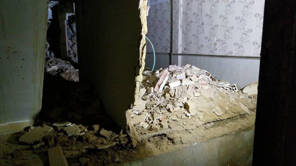 دو حادثه ریزش ساختمان در بامداد امروز