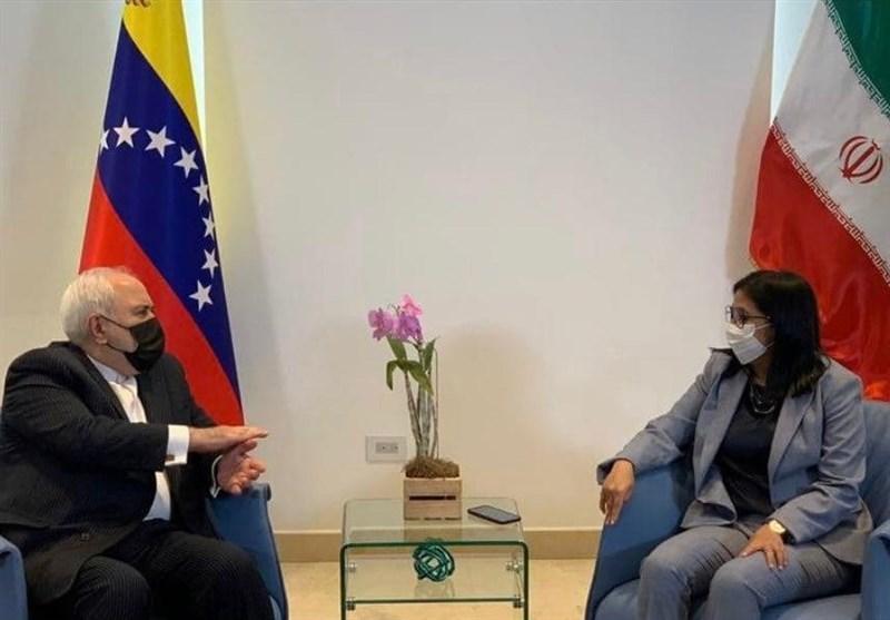 ملاقات ظریف با معاون رئیس جمهور ونزوئلا