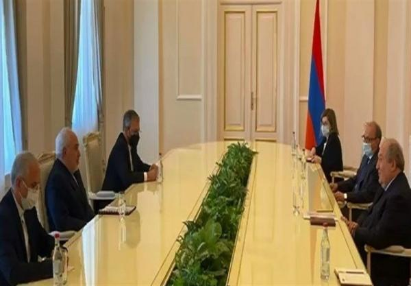 ملاقات ظریف با رئیس جمهور ارمنستان